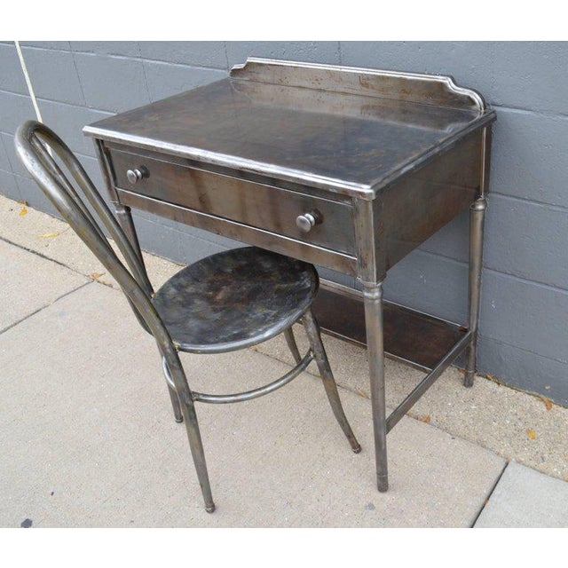 Mid-Century Simmons Steel Desk with Steel Chair Labelled Physicians' Nurses' - Image 2 of 10