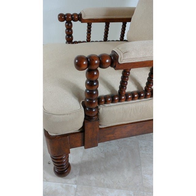 Wood 1980s Robert Scott Walnut Accent Chair For Sale - Image 7 of 11