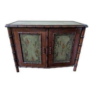 Bristish Colonial Faux Bamboo Server Cabinet