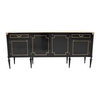 Long French Louis XVI Style Antique Sideboard or Buffet.