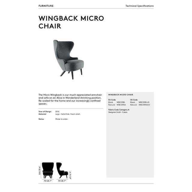 Tom Dixon Micro Wingback Chair For Sale - Image 9 of 11
