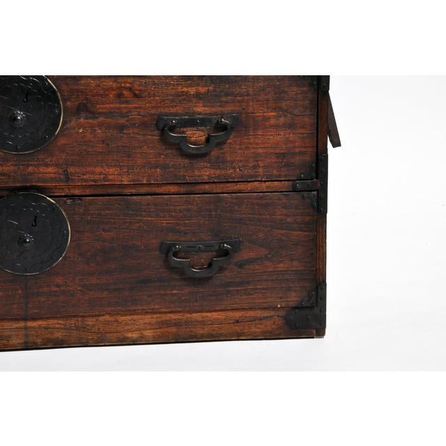 Japanese Tansu With Black Color Hardware For Sale - Image 12 of 13