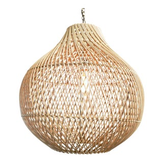 Natural Wicker Bawang Lantern Large