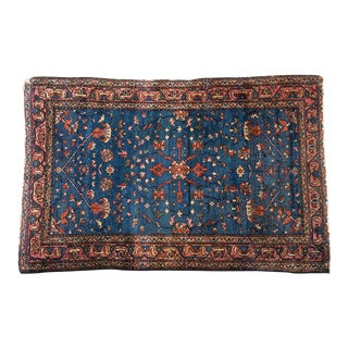 1920s Persian Handknotted Wool Oriental Rug, 3.5' X 5'