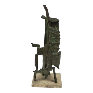 Morris Brose Abstract Bronze Sculpture Signed and Dated 1958 For Sale