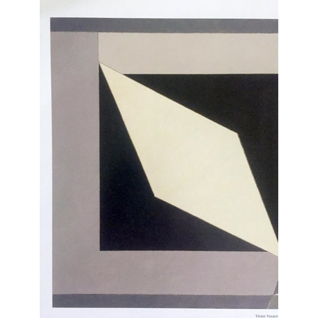"""Victor Vasarely Vintage Victor Vasarely Op Art Modernist Geometric Lithograph Print """" Homage to Malevich """" 1953 For Sale - Image 4 of 12"""