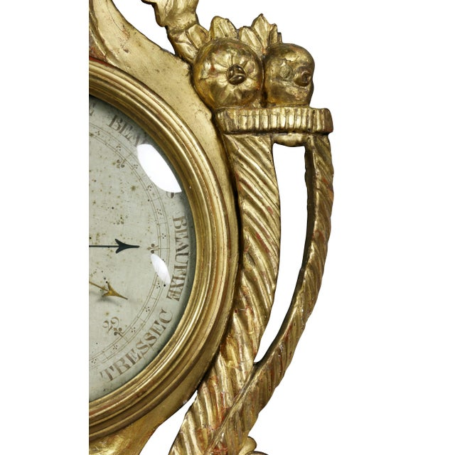 Late 18th Century Louis XVI Giltwood Barometer For Sale - Image 5 of 9