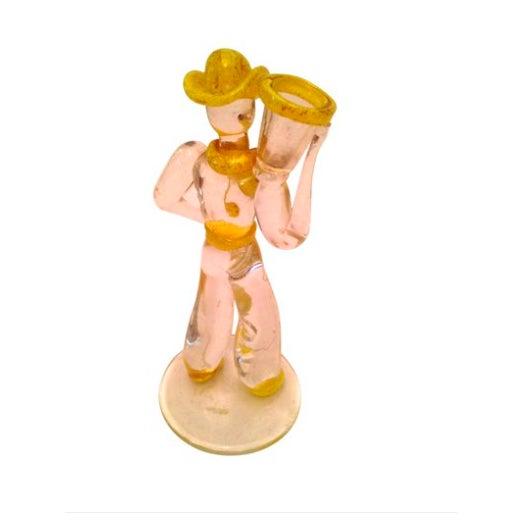 Mid-Century Italian Murano Art Glass Cowboy - Image 3 of 4