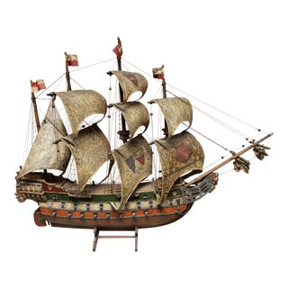 Mid 20th Century Model of 1541 German Hanseatic League Warship For Sale