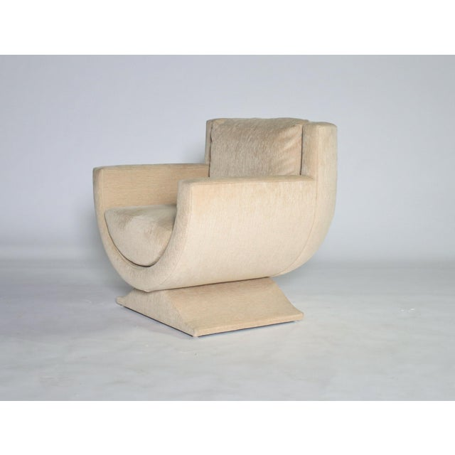 Fabric Richard Himmel Upholstered Club Chair For Sale - Image 7 of 8