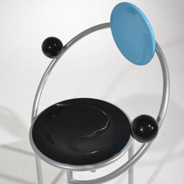 Modern Michele De Lucchi First Chair for Memphis, Milano For Sale - Image 3 of 13