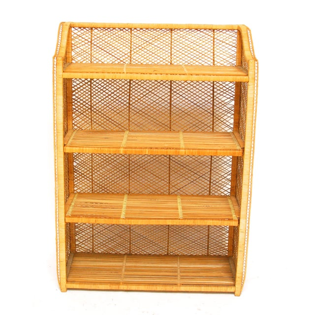 Natural Rattan Bamboo Etagere - Image 3 of 6