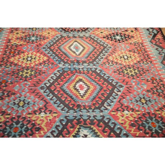 """Textile Antique Kilim Carpet - 6'1"""" x 9'1"""" For Sale - Image 7 of 10"""