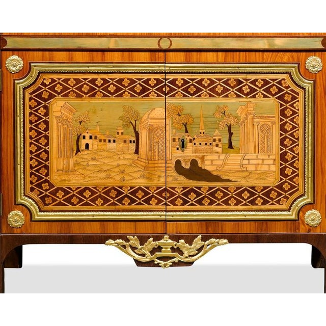 Tan Ornate Secretary by André Gilbert For Sale - Image 8 of 10