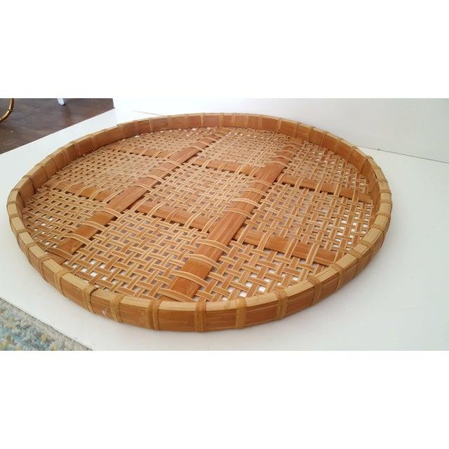 Large Vintage Bamboo Fish Drying Basket - Image 2 of 6