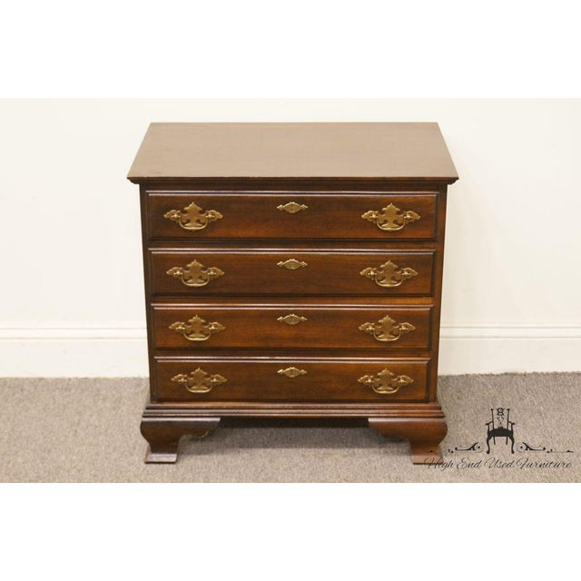 Chippendale Chippendale Style 4 Drawer Solid Mahogany Accent Chest For Sale - Image 3 of 13