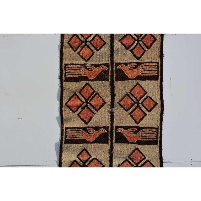 Folk Art Road Runner Tapestry Wool, Peru, 1940s For Sale - Image 3 of 8