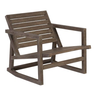 Phillips Collection Slated Rocking Chair, Charcoal For Sale