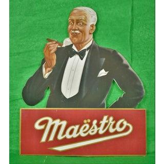 Maestro Cigar Promo Board Sign For Sale
