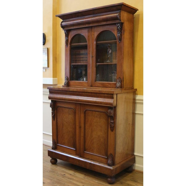 Large Victorian mahogany bookcase imported from England and dating back to C.1850. What an impressive piece this is. The...
