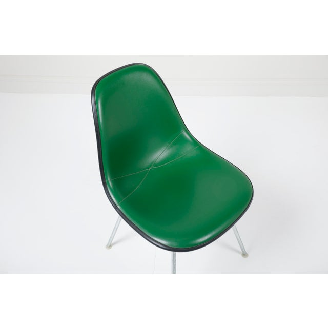 1970s Vintage Herman Miller Eames Dsx Fiberglass Padded Shell Chairs- Set of 4 For Sale - Image 6 of 11