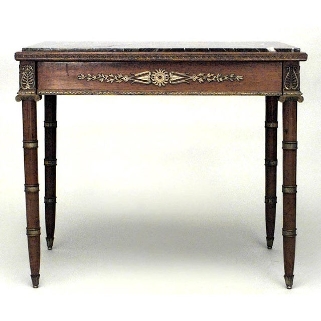 French Empire Style '19th Century' Mahogany and Bronze Trimmed Table For Sale In New York - Image 6 of 6