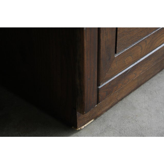 Gold Campaign Style 7-Drawer Dresser For Sale - Image 8 of 11