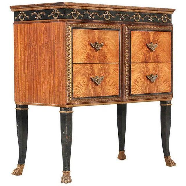 French Regency Mahogany Veneer Commode For Sale - Image 9 of 9