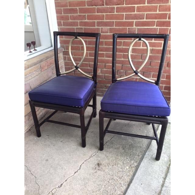 McGuire Rattan Bamboo Chairs - A Pair - Image 3 of 8