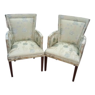 Hickory Chair Mariette Himes Gomez Mint Green Dining Chairs - a Pair For Sale