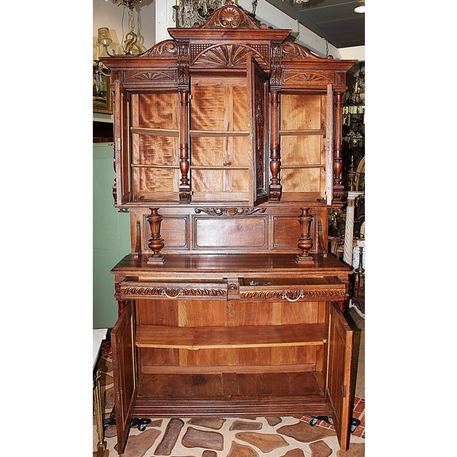 French Rococo Hand-Carved Hutch - Image 8 of 9