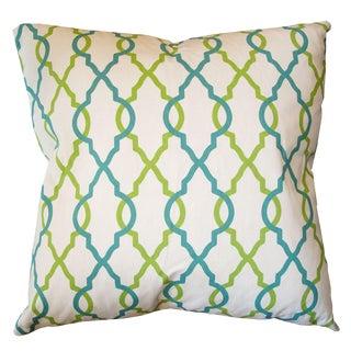 Quatrafoil Print Down Pillow For Sale