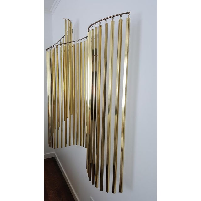 Curtis Jere Kinetic Wave Form Chrome & Brass Wall Sculpture - Image 8 of 11