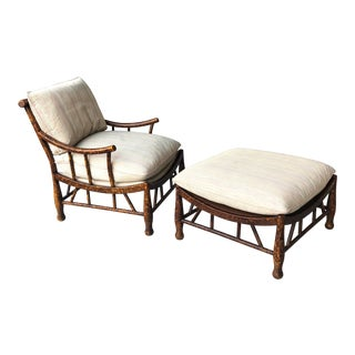 Thebes Longe Chair and Ottoman Chaise by Pearson For Sale