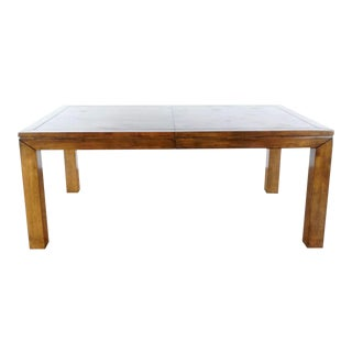 Traditional Robb & Stucky Solid Walnut Dining Table For Sale