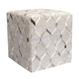Pasargad Home Cowhide Square Pouf For Sale