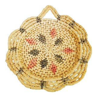 Vintage Flower Shaped Woven Wall Basket