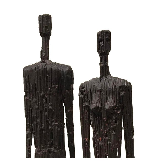 Contemporary Contemporary Metal Figures of Man and Woman - a Pair For Sale - Image 3 of 5
