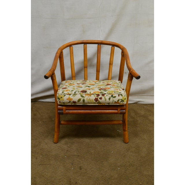 Ficks Reed Mid-Century Rattan Lounge Chairs - A Pair For Sale - Image 9 of 13