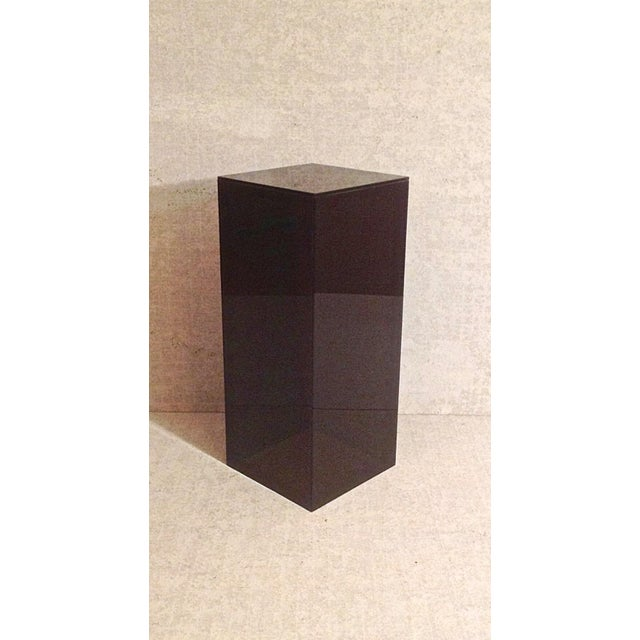 Vintage Smoked Lucite Pedestal - Image 5 of 5