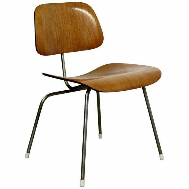 1950s Mid Century Modern Early Original Eames Herman Miller Dcm Side Chair 1950s For Sale - Image 5 of 8