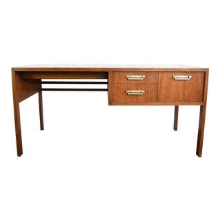Mid Century Modern Baker Company Oak Writing Desk For Sale