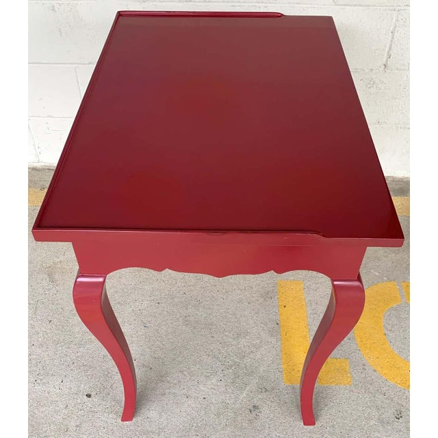 Wood Bold Mauve Lacquered End/ Nightstands Tables For Sale - Image 7 of 10