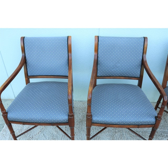 1990s 18th C. Southwood Furniture Vintage Mahogany Armchairs - Set of 4 For Sale - Image 5 of 13