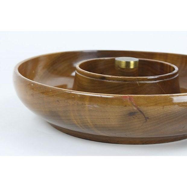 Mid-Century Mod Nut Cracker Bowl in Oregon Myrtle - Image 6 of 6