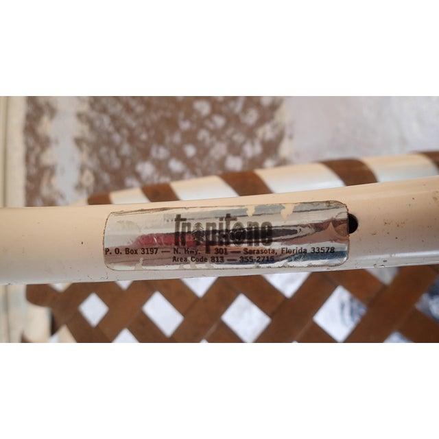 Tropitone Brown & White Outdoor Patio Set - Set of 5 - Image 11 of 11