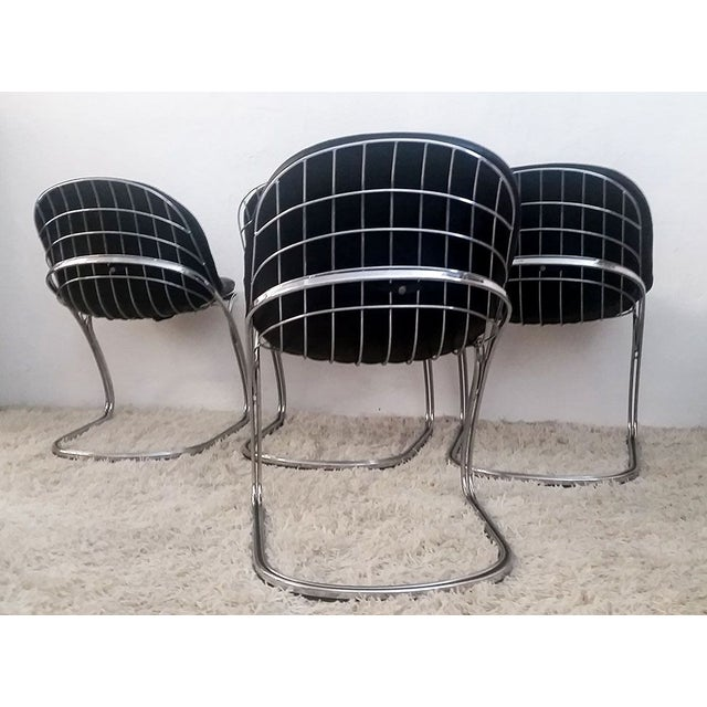Chrome Gastone Rinaldi Chrome Dining Chairs - Set of 4 For Sale - Image 7 of 7
