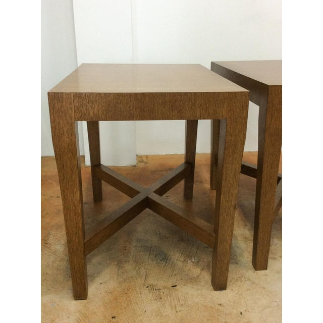Modern Modern Wood Side Tables - A Pair For Sale - Image 3 of 7