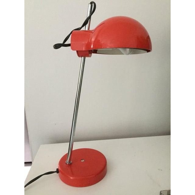 Metal Groovy Red Lightolier Desk Lamp, C. 1969, Mid-Century Modern, Pop Inspired For Sale - Image 7 of 7