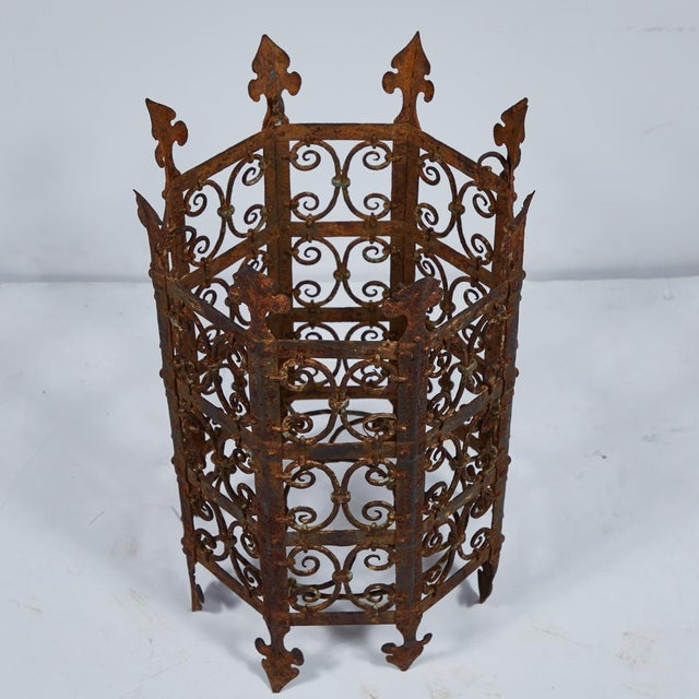 Traditional 19th Century Decorative Iron Jardinière From France For Sale - Image 3 of 5
